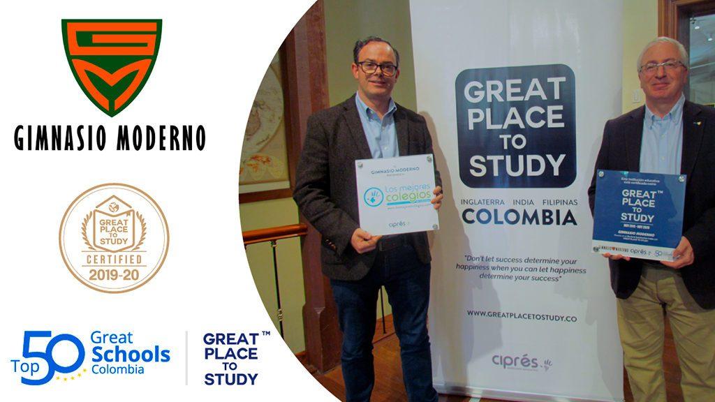 """El Gimnasio Moderno recibe certificación """"Great Place To Study"""""""